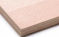 Echtholzfurnierte Platten