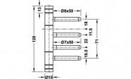 Otlav Edelstahl Rahmenteil  wie V 8000 WF für Stahlzarge