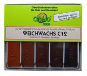 Cleho Weichwachs C12 S7 5St Mahagonie/Palisander 1225507