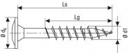 Spax Holzbauschraube Ø6,0x60mm  Edelstahl T30 Tellerkopf