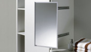 Ausziebarer und drehbarer Spiegel