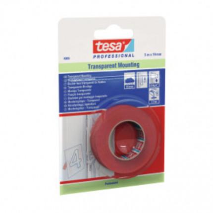 Tesafix Klebeband 4965 19mm - Tesafix Klebeband 4965 19mm 50m Rolle doppelseitig transp.