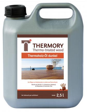 Thermory Öl dunkel - Thermory Öl dunkel  für Thermoholz Esche 2,5 Ltr.  auf Wasserbasis mit natürlichen Ölen