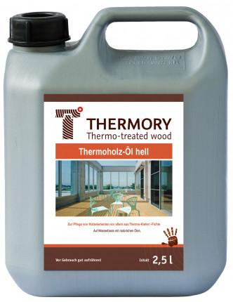 Thermory Öl hell - Thermory Öl hell  für Thermoholz Kiefer 2,5 Ltr.  auf Wasserbasis mit natürlichen Ölen
