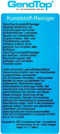 GenoTop Kunststoff-Reiniger - GenoTop Kunststoff-Reiniger 5 Ltr.   FSG/DN UN 1993