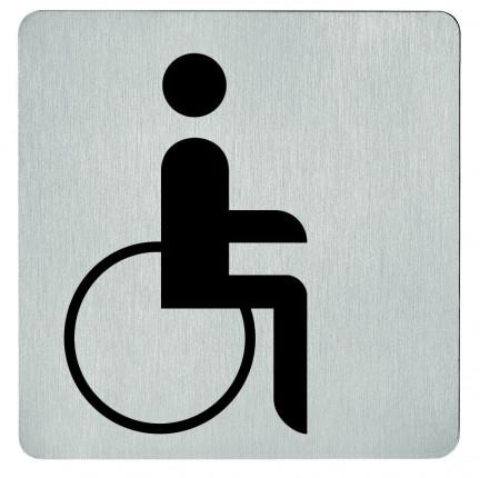 FSB Hinweiszeichen WC Rollstuhl 36 4059 00103 ER - FSB Symbol Rollstuhl 4059  Edelstahl selbstklebend   03640590103 6204