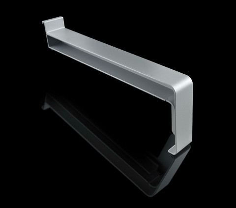 Gutmann Kunststoff-Gleitabschluss KF400 360 mm Grau RE - Kunststoff-Gleitabschluss  KF400, 360 mm, DIN Rechts, Grau
