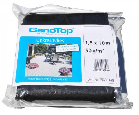 GenoTop Unkrautvlies schwarz - GenoTop Unkrautvlies schwarz  UV-beständig, wasserdurchlässig  1,5x10 m, 50 gr./qm  6851