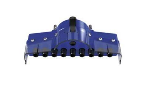 BlueMax Wechselbohrgetriebe - BlueMax Mini Modular  Wechselbohrgetriebe System 32 Lochreihe  9 Spindeln mit Schnellwechselfutter und  Bohreraufnahmen  9131505