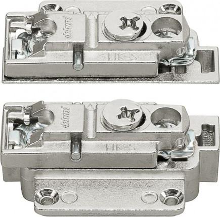 Blum Clip Montageplatte gerade - Blum Clip Montageplatte, gerade (31 mm), 0 mm, Zink, Schrauben, HV: Exzenter,  links/rechts, für schmale Alurahmen, vernickelt   175H5B00