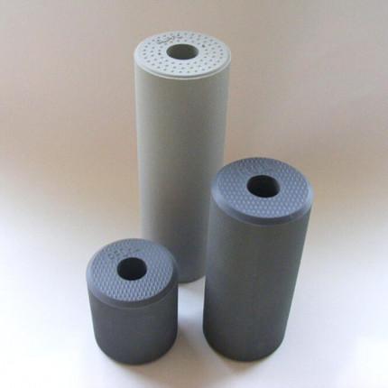 Leimwalze 150 mm Moosgummi - Leimwalze 150 mm Moosgummi, gerippte, porenlose Oberfläche, für Weißleime, auch für Leime mit Härterzusatz,  grau 015030