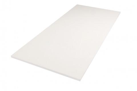 Tischplatten Weiß - Tischplatten Weiß Bürostruktur 4-seitig 1mm ABS-Kante, dekorgleich, Folie und Einleger 70% PEFC zertifiziert, BV/CdC/6009552