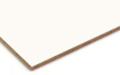 Homadur HDF beidseitig U 0312 Weiß - Homadur HDF Uni E 1 beidseitig U 0312 Weiß mit Gleitmittel 0,1%