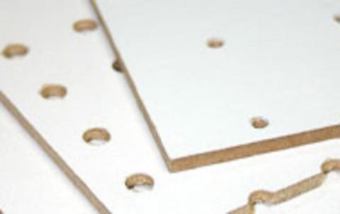 Lochplatte Weiß Typ B - Lochplatte Weiß Typ B  Loch 3/Abstand 25
