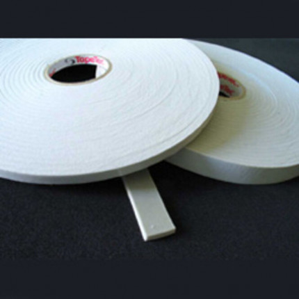 Tape Tec moll Schaumstoffband - Tape Tec moll Schaumstoffband  6x9 mm 7606 weiss, 10 m Rolle  2243011