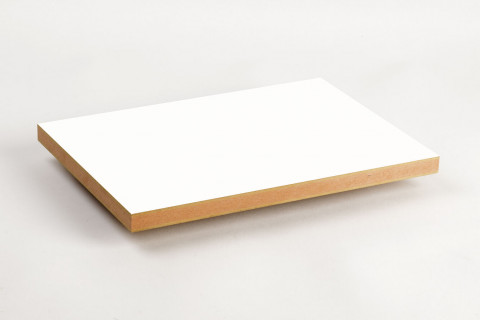 MDF Grundierfolie Weiß schwer entflammbar - MDF-Platte Grundierfolie Weiß E1 schwer entflammbar Klassifizierung des Brandverhaltens nach EN 13501-1 B-s2,d0 100% PEFC zertifiziert, BV/CdC/6009552 | 2