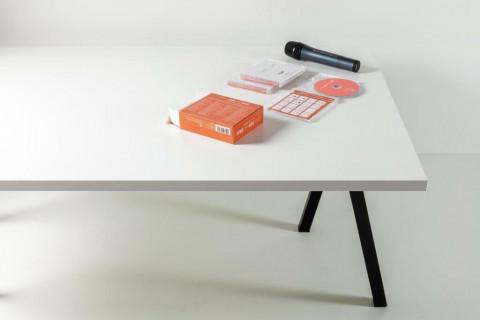Tischplatten Weiß - Tischplatten Weiß Bürostruktur 4-seitig 1mm ABS-Kante, dekorgleich, Folie und Einleger 70% PEFC zertifiziert, BV/CdC/6009552   2