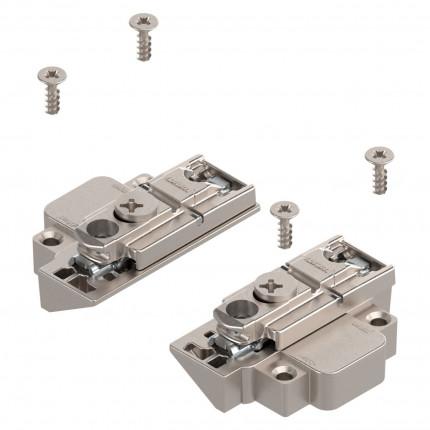 Blum Clip Montageplatte gerade - Blum Clip Montageplatte, gerade (31 mm), 0 mm, Zink, Schrauben, HV: Exzenter,  links/rechts, für schmale Alurahmen, vernickelt   175H5B00 | 2
