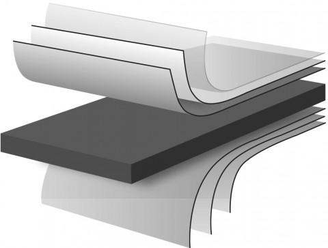 CDF Platte Frontweiß beschichtet K 101 PE - CDF Platte Frontweiß beschichtet  K 101 PE Compact Density Fibreboard 100% PEFC zertifiziert, BV/CdC/6009552   2