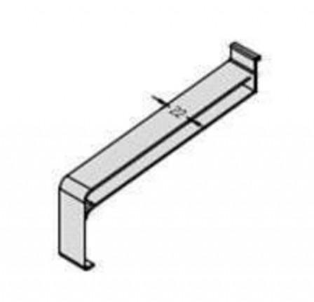 Gutmann Kunststoff-Gleitabschluss KF400 360 mm Grau RE - Kunststoff-Gleitabschluss  KF400, 360 mm, DIN Rechts, Grau | 2