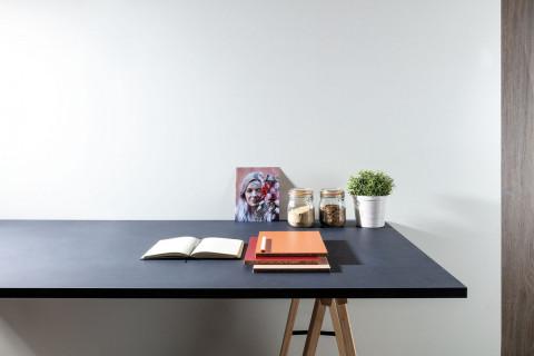 Tischplatten Midnight Stucco - Tischplatten Midnight Stucco Dekor  F257 M02  4-seitig 1mm ABS-Kante, dekorgleich, Folie und Einleger 70% PEFC zertifiziert, BV/CdC/6009552 | 2