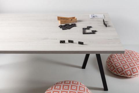 Tischplatten Romantik Eiche - Tischplatten Romantik Eiche Dekorspan H780 W06 mit Hirnholzkante, Folie und Einleger 70% PEFC zertifiziert, BV/CdC/6009552   2