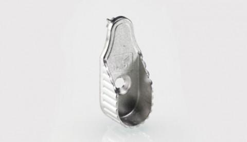 Schrankrohrlager oval 30x15, setilich Zapfen - Schrankrohrlager oval 30x15mm seitlich bef.vernickelt mit Zapfen SL323DD  0070666 | 2