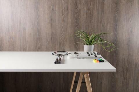 Tischplatten Weiß - Tischplatten Weiß Bürostruktur 4-seitig 1mm ABS-Kante, dekorgleich, Folie und Einleger 70% PEFC zertifiziert, BV/CdC/6009552   3