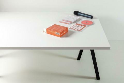 Tischplatten Weiß - Tischplatten Weiß Bürostruktur 4-seitig 1mm ABS-Kante, dekorgleich, Folie und Einleger 70% PEFC zertifiziert, BV/CdC/6009552 | 3