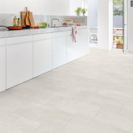 Quick-Step Livyn Boden AMCL40049 - Quick-Step Livyn Boden V4 mit Fase Beton hell  Ambient Click AMCL40049  Nutzschicht 0,3 mm  Nutzungsklasse 32, vor Verlegung 48 Stunden akklimatisieren,  5 Stück pro Paket = 2,08 qm  52 Pakete pro Palette = 108,16 qm | 3