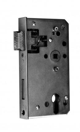 Schlosskasten 40mm 60/72/8 PZW - Schlosskasten 40mm 60/72/8 PZW Stulp 33x166mm verz.Schloss 460461P   3