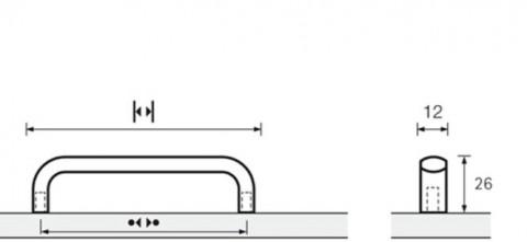 Möbelgriff Naila Aluminium elox. - Möbelgriff Naila  Aluminium eloxiert  BA=256 mm  9190425 | 3