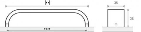 Möbelgriff Catana Edelstahl - Möbelgriff Catana Edelstahl  BA=320 mm   0115081 | 3