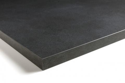 Tischplatten Midnight Stucco - Tischplatten Midnight Stucco Dekor  F257 M02  4-seitig 1mm ABS-Kante, dekorgleich, Folie und Einleger 70% PEFC zertifiziert, BV/CdC/6009552 | 4
