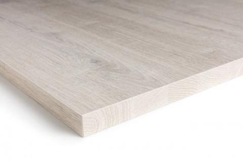 Tischplatten Romantik Eiche - Tischplatten Romantik Eiche Dekorspan H780 W06 mit Hirnholzkante, Folie und Einleger 70% PEFC zertifiziert, BV/CdC/6009552   4