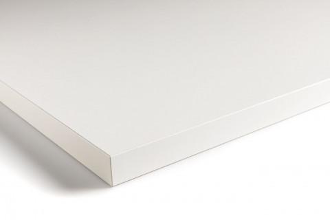 Tischplatten Weiß - Tischplatten Weiß Bürostruktur 4-seitig 1mm ABS-Kante, dekorgleich, Folie und Einleger 70% PEFC zertifiziert, BV/CdC/6009552   4