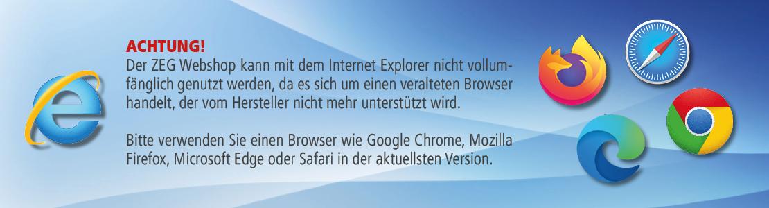 Hinweis Internet Explorer